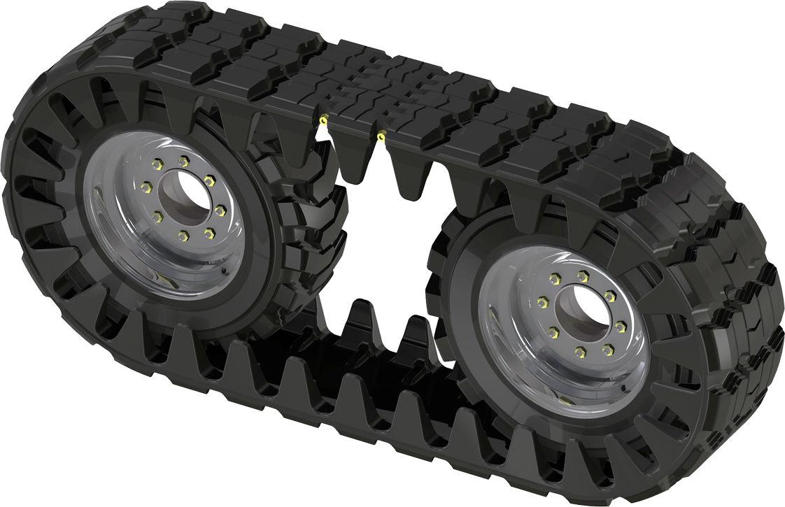 Skid Steer Over Tyre Tracks Toyota Huski Bobcat Case